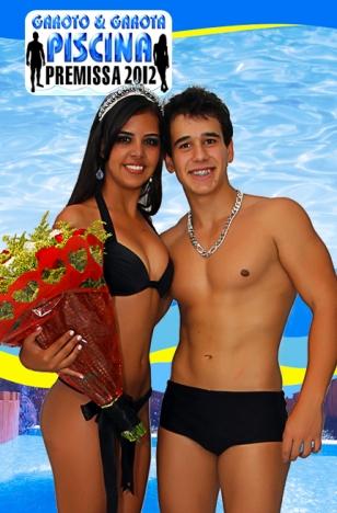 Garoto e Garota Piscina 2012: Lilian Guimarães (Fiver) e Igor Murta (Energia)