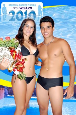 Garoto e Garota Piscina 2010: Patrícia Muniz (AABB) e Guilherme Guimarães (Clube da Prefeitura)
