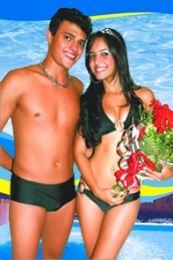 Garoto e Garota Piscina 2008: Marina Domingues (Sesi/Ascipam) e Anderson Andrade, (Clube Praça de Esportes do Pará)